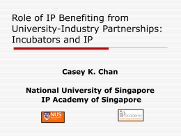 Role of IP in Benefiting from University-Industry Partnerships