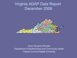 VA - ADAP Data Report September 2001
