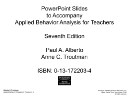 Responsible Use of Applied Behavior Analysis Procedures