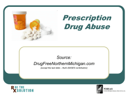 Prescription Drug Abuse Source