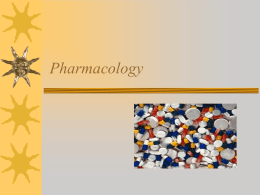 01 Nursing Process and Drug Therapy. Basic Pharmacology
