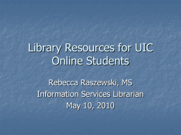 Library Resources for Global Campus