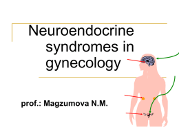 5. Neuroendocrine syndromes in gynecology