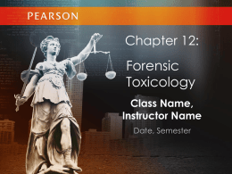 Toxicology - TeacherWeb