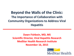 Beyond the Walls of the Clinic: The Importance of Collaboration with