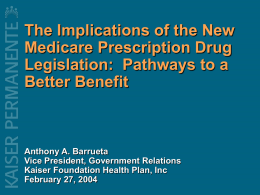 Realizing Prescription Drug Value in an Environment of Market
