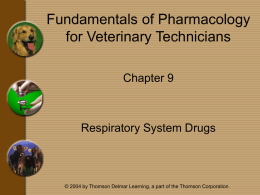 Chapter 9 - Respiratory System Drugs