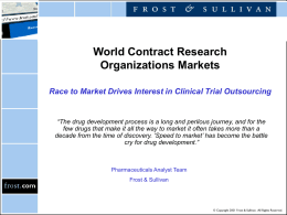 World Contract Research Organizations Markets