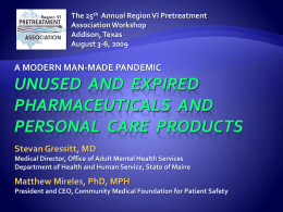 Pharmaceuticals & Personal Care Products