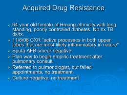 Acquired Drug Resistance