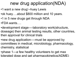 new drug application - Weatherford High School