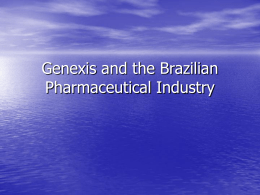 Genexis and the Brazilian Pharmaceutical Industry