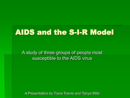 AIDS and the S-I