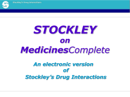Stockley`s Drug Interactions