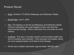 2003Product Recall_King_Tylenol