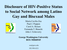 Contextual Influences on Sexual Risk Among Latino MSM