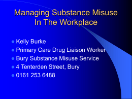 Managing Substance Misuse in the Workplace