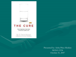 The Cure: How Capitalism Can Save American Health Care Dr