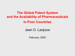 A Patent Policy for Global Diseases