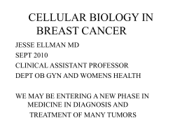 Dr. Jesse Ellman – Cell Biology in Breast Cancer
