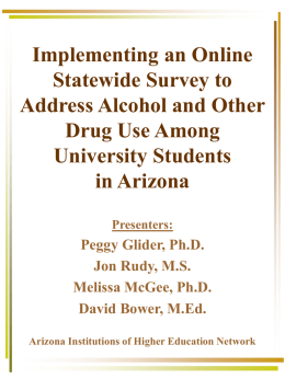 Implementing an Online Statewide Survey to Address Alcohol and