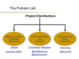 Dr. Putnam: Lab Projects