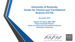 center for clinical and translational science