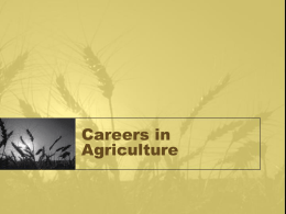 Careers In agriculture PowerPoint