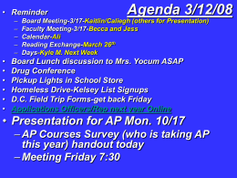 Agenda - Wilson School District