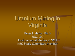 Peter`s presentation for the uranium mining convention.