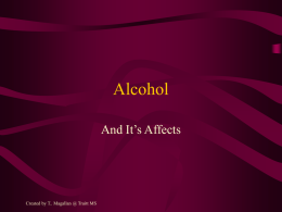 Alcohol - INSIDE CFISD.NET Home Page