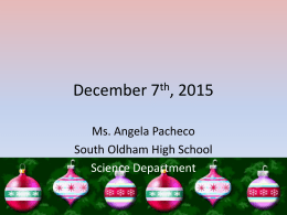 December 6th, 2010 - Ms. Angela PachecoPhysics and