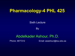 6th Lecture 1434 - Home - KSU Faculty Member websites