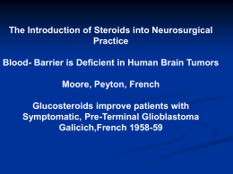 Barrier is Deficient in Human Brain Tumors Moore, Peyton, French