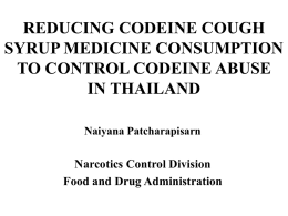 REDUCING CODEINE COUGH SYRUP MEDICINE CONSUMPTION