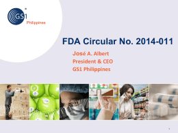 FDA Circular 2014-011 - Philippine Association of Pharmacists