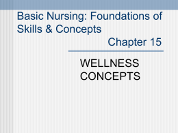 Foundations of Nursing by Lois White Chapter 15
