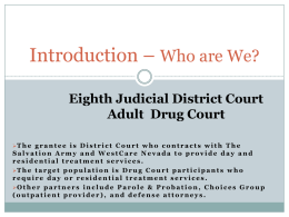 Eighth Judicial District Court Adult Drug Court, Las Vegas, NV