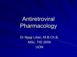 Antiretroviral Agents presentation