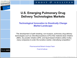 US Emerging Pulmonary Drug Delivery