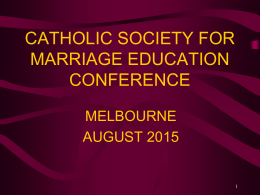 Introduction - The Catholic Society for Marriage Education
