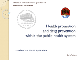 Health promotion and drug prevention within the public - kcpe-kcse