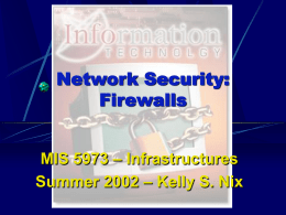 Network Security (Firewalls) - Presentation