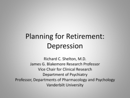 Planning for Retirement: Depression