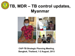 Country Response to the M/XDR-TB challenge Poster Presentation