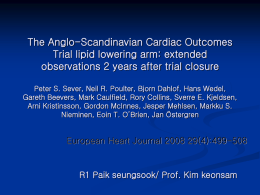 The Anglo-Scandinavian Cardiac Outcomes Trial lipid lowering arm