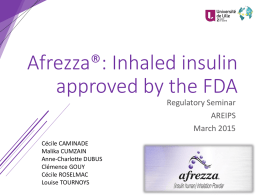 Afrezza®: Inhaled insulin approved by the FDA