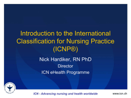 ICN - Advancing nursing and health worldwide