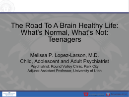 The Road To A Brain Healthy Life: What`s