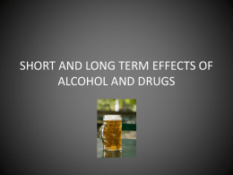 short and long term effects of alcohol and marijuana